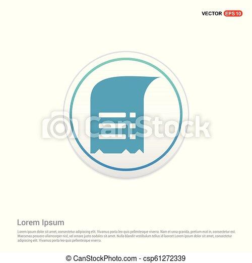 Document Icon - white circle button - csp61272339