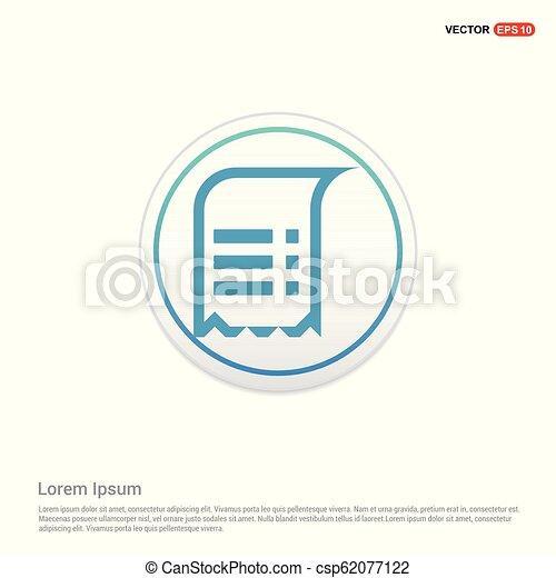 Document Icon - white circle button - csp62077122