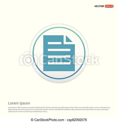 Document Icon - white circle button - csp62092076