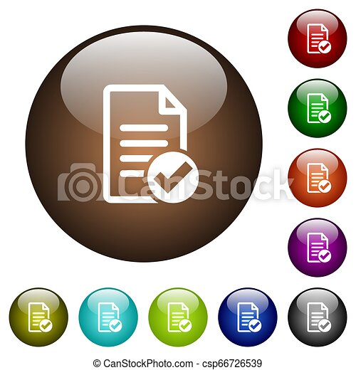 Document ok color glass buttons - csp66726539
