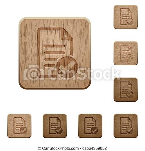 Document ok wooden buttons - csp64359052
