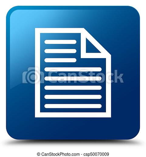 Document page icon blue square button - csp50070009