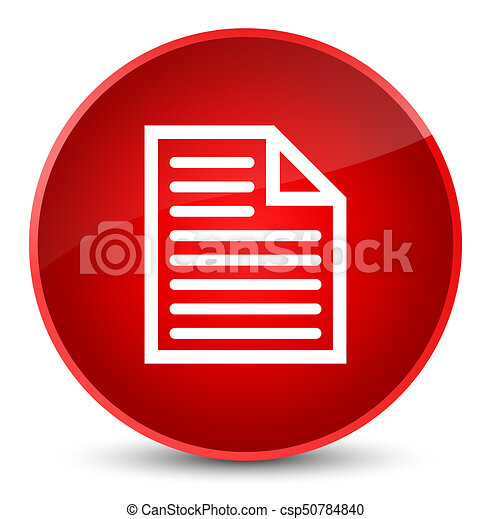 Document page icon elegant red round button - csp50784840