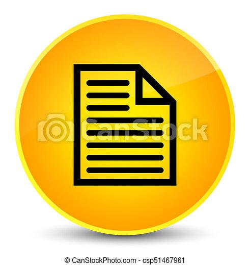 Document page icon elegant yellow round button - csp51467961