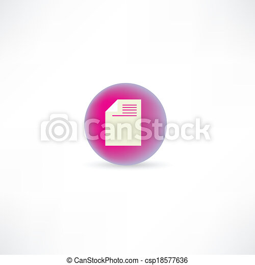 document page icon - csp18577636