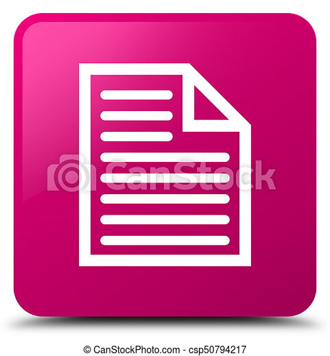 Document page icon pink square button - csp50794217
