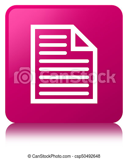 Document page icon pink square button - csp50492648