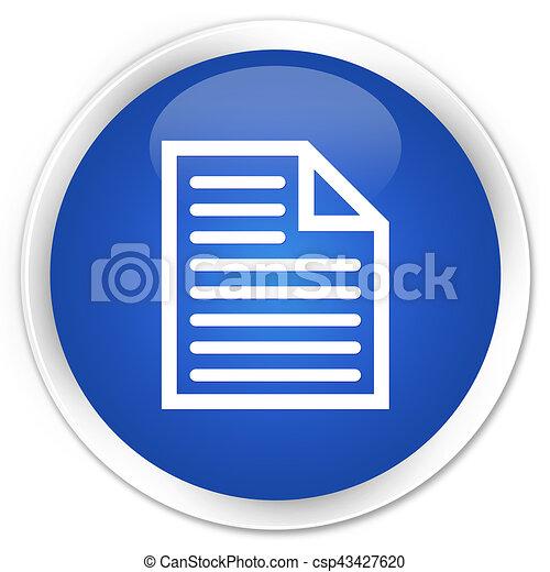 Document page icon premium blue round button - csp43427620
