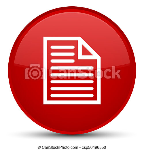 Document page icon special red round button - csp50496550