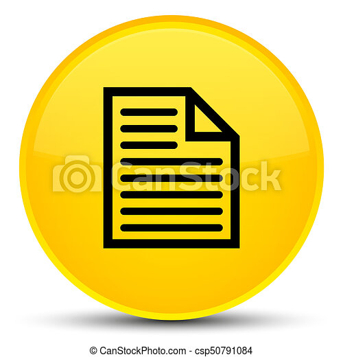 Document page icon special yellow round button - csp50791084