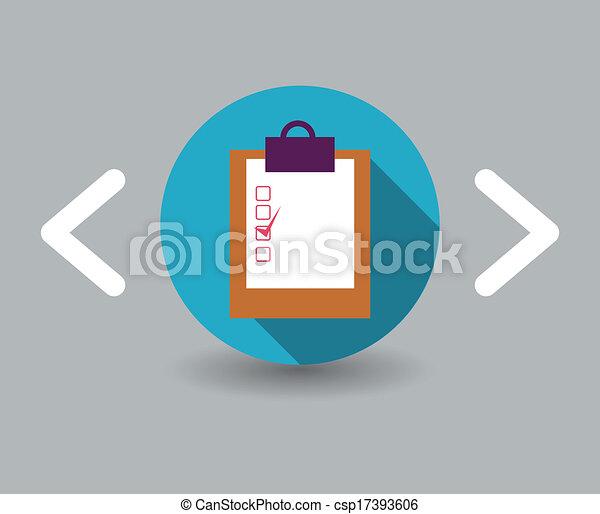 document, pictogram - csp17393606