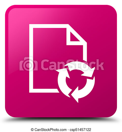 Document process icon pink square button - csp51457122