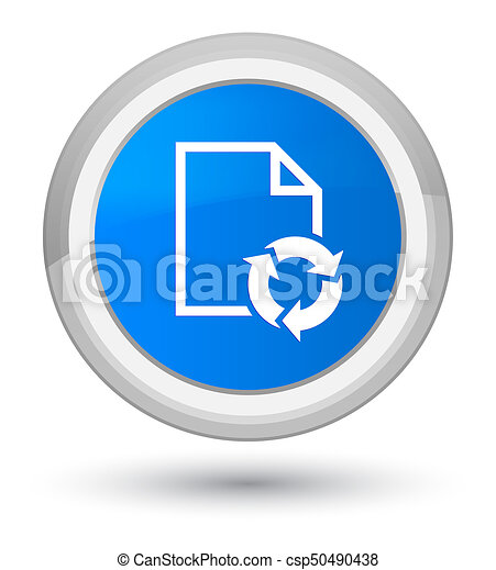Document process icon prime cyan blue round button - csp50490438