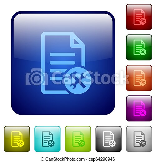 Document tools color square buttons - csp64290946