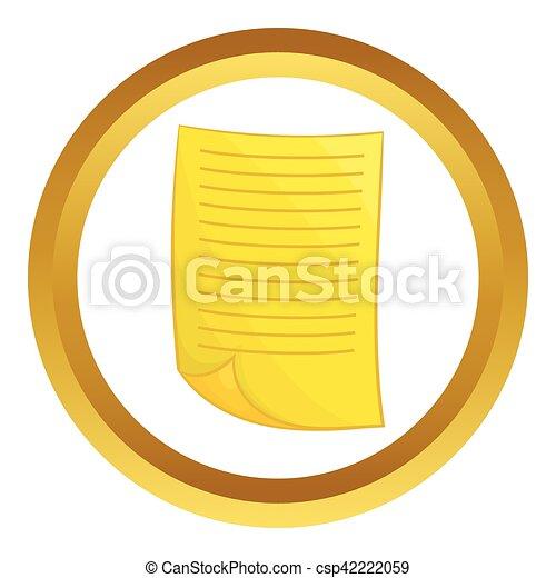 Document vector icon - csp42222059