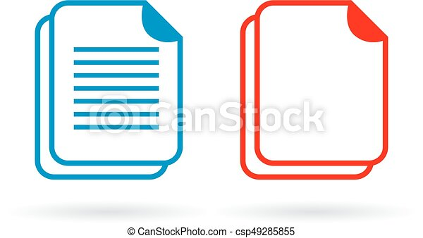 Document vector icon - csp49285855