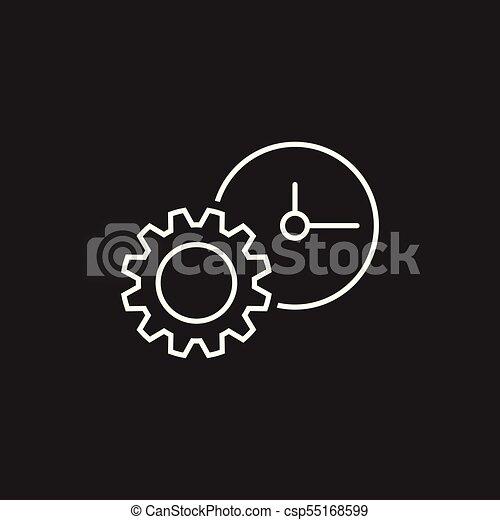 Document vector icon. Project management flat illustration. - csp55168599