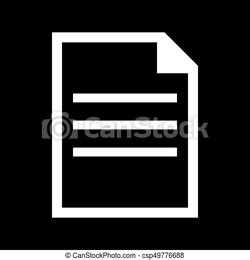 Document white color icon . - csp49776688