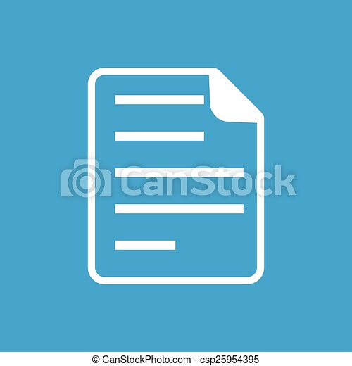 Document white icon - csp25954395
