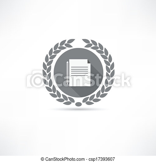 documento, ícone - csp17393607