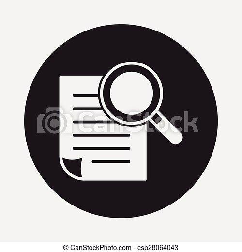documento, ícone - csp28064043