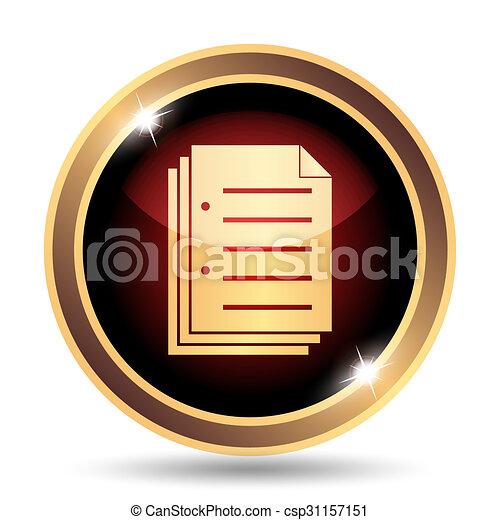 El icono del documento - csp31157151