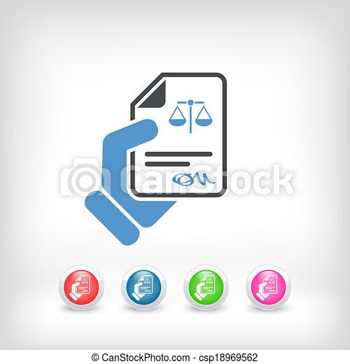 Documento legal - csp18969562
