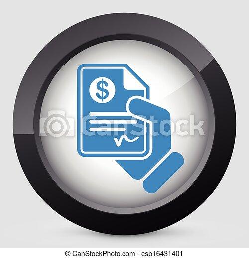 documento, pagamento - csp16431401