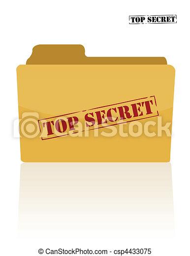 documento, segreto, cartella - csp4433075