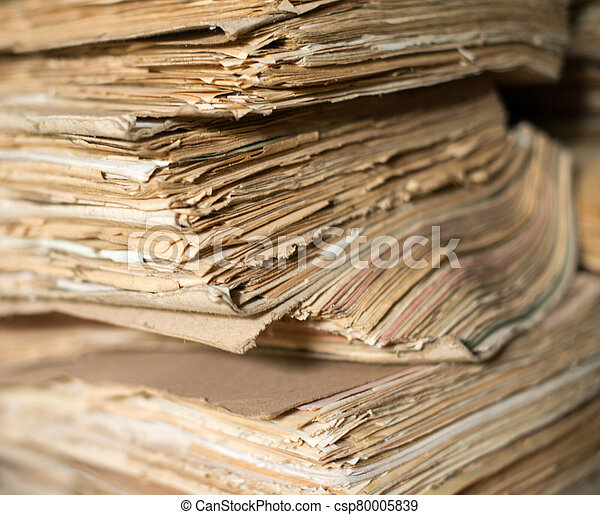 documentos, archivo, papel, viejo - csp80005839