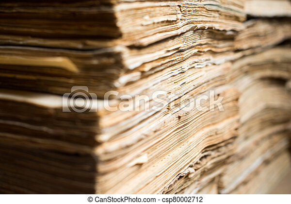 documentos, archivo, papel, viejo - csp80002712