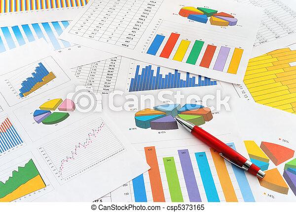 documentos, finanças - csp5373165
