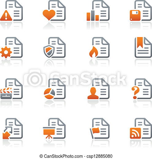 Documents Icons -2 / Graphite Series - csp12885080
