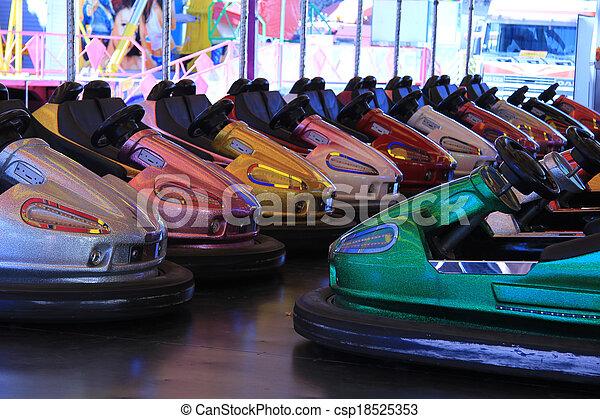 Dodgem cars in a row - csp18525353