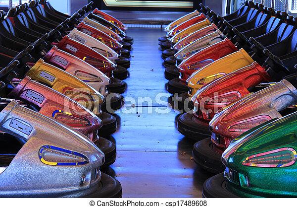 Dodgem cars in a row - csp17489608