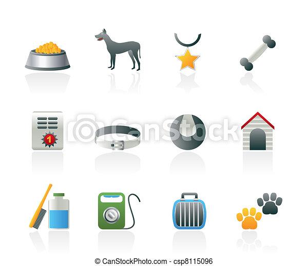 dog accessory and symbols icons  - csp8115096