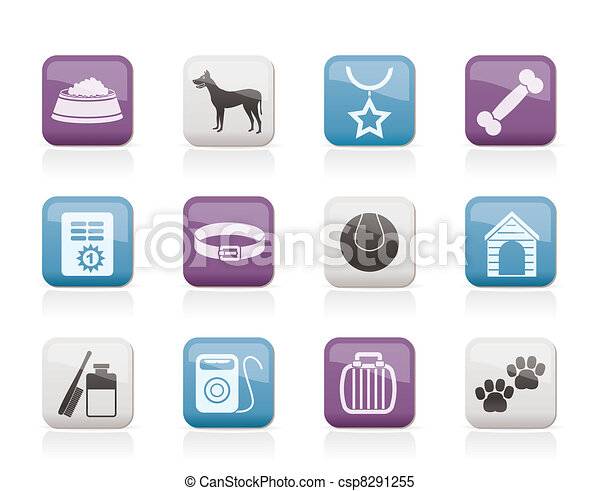 dog accessory and symbols icons - csp8291255