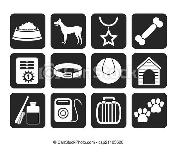 dog accessory and symbols icons - csp21105620