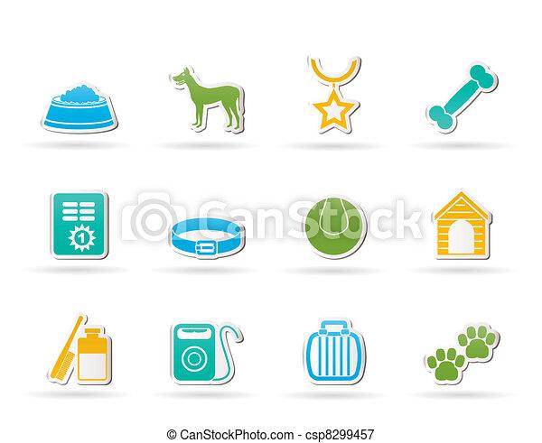 dog accessory and symbols icons  - csp8299457