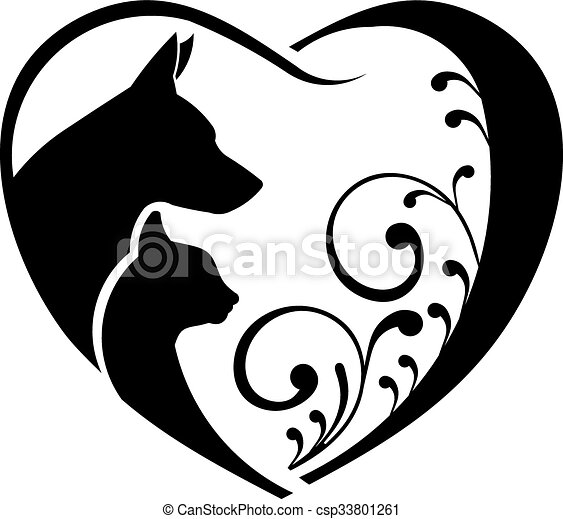 dog and cat love heart vector graphic rh canstockphoto com matlab eps vector graphics eps vector graphics free download