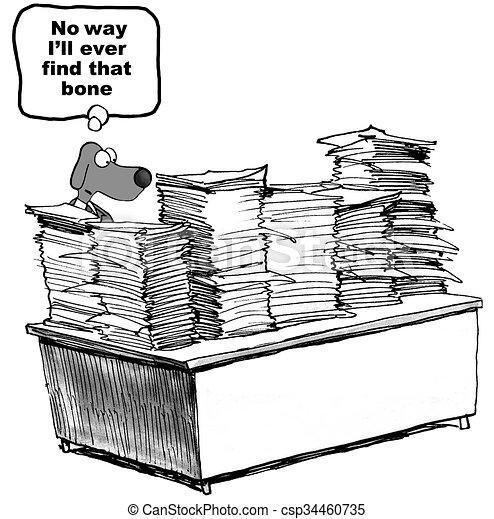 Dog and Paperwork - csp34460735