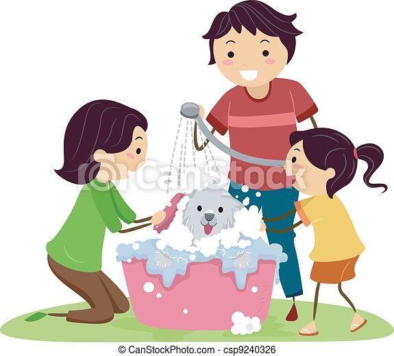 Clip Art Free Dog And Washing