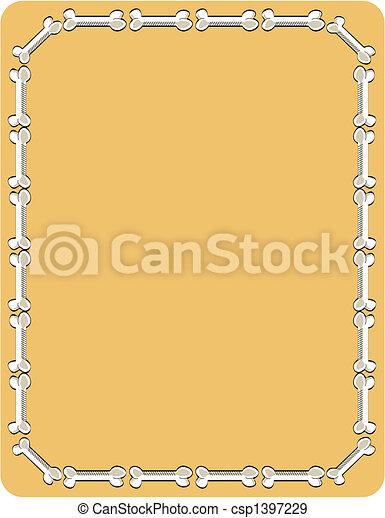 Dog bone border background pattern. Dog bone border, background ...