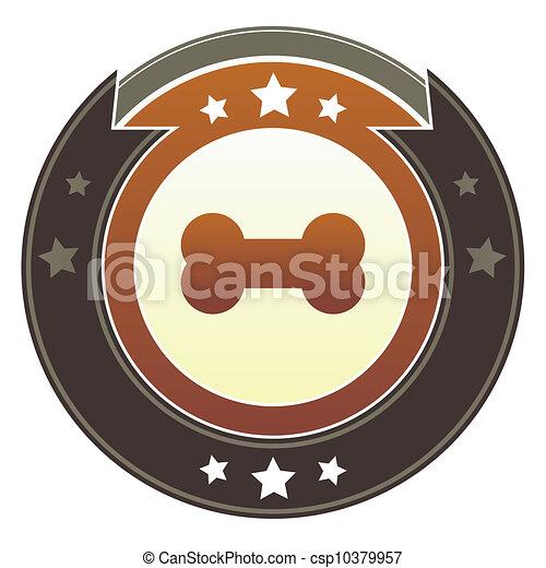 Dog bone imperial button - csp10379957