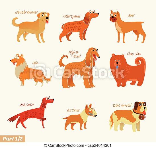 Dog breeds - csp24014301
