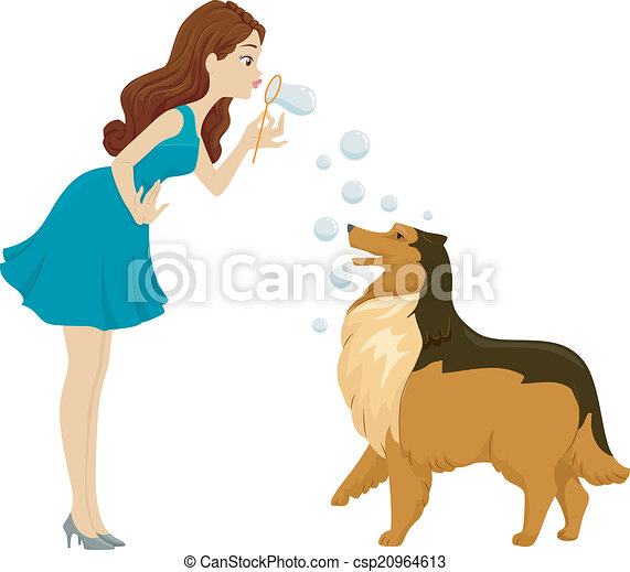 Dog Bubble Play - csp20964613