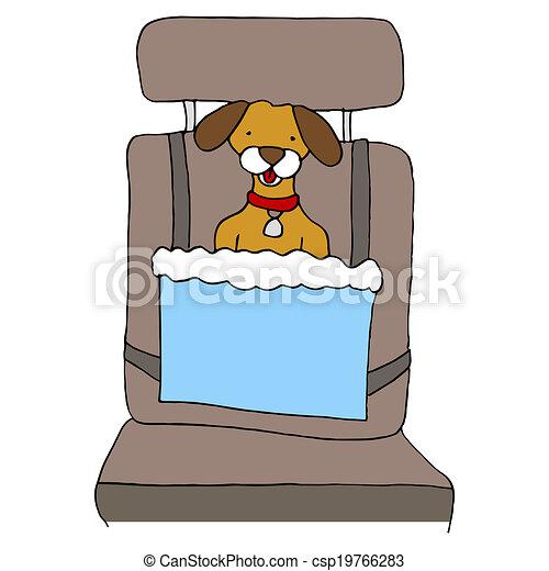 Dog Car Seat - csp19766283