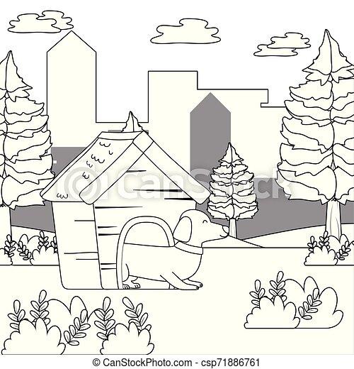House Design Inside Drawing