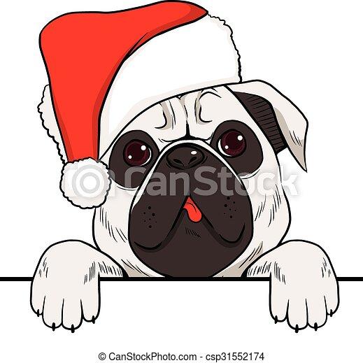 Dog Christmas Hat - csp31552174