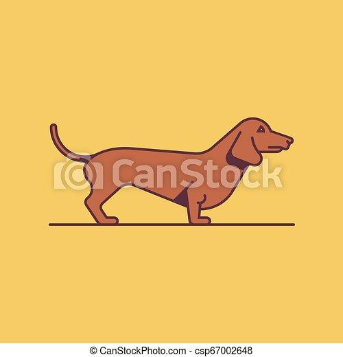 Dog Dachshund, vector illustration - csp67002648